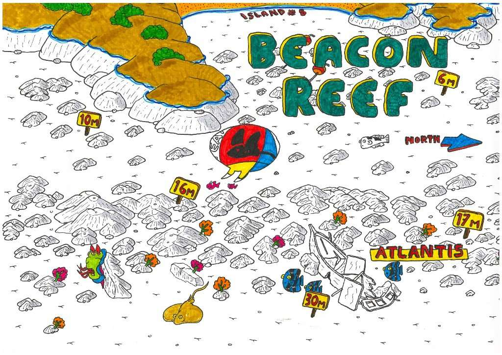 Map of Beacon Reef Dove Site