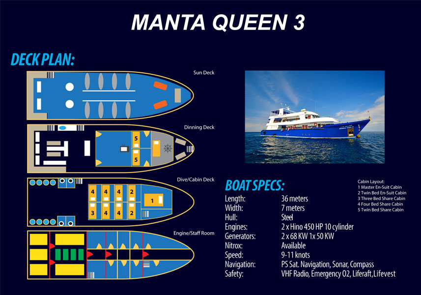 Manta Queen 3 Layout